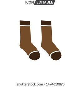 Socks vector flat icon. Flat design. Vector illustration