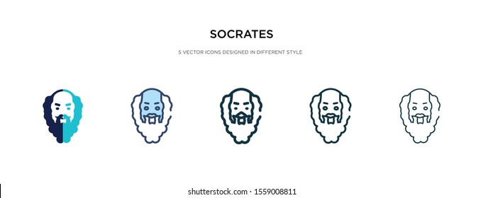 socrates icon in different style vector illustration. two colored and black socrates vector icons designed in filled, outline, line and stroke style can be used for web, mobile, ui
