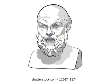 Socrates Sokrat Ancient Greek Athenes Ancient philosophy Classical Greek philosophy philosopher Attic orator Sokrates vector sculpture statue
