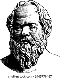 Socrates, vintage engraved illustration drawing