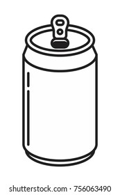 soda aluminum bottle can icon in flat style vector illustration