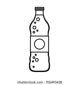 soda bottle with blank label icon image