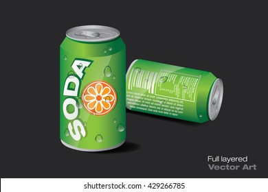 soda can green
