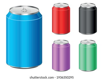soda can set vector design illustration isolated on white background