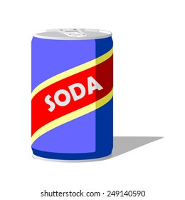 Soda can. Vector illustration of soda can design for use for web or print.