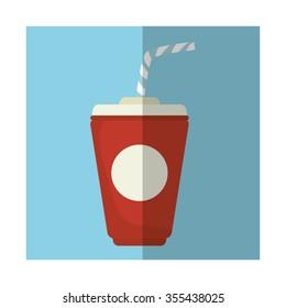 Soda drink cup graphic design, vector illustration eps10