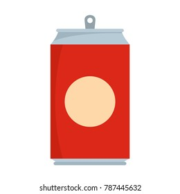 Soda icon. Flat illustration of soda vector icon isolated on white background