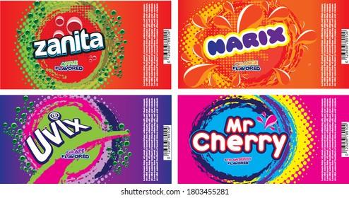Soda label designs for alluminium can