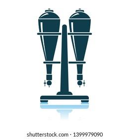 Soda Siphon Equipment Icon. Shadow Reflection Design. Vector Illustration.