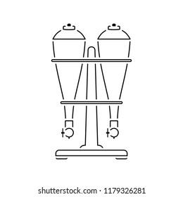 Soda siphon equipment icon. Thin line design. Vector illustration.