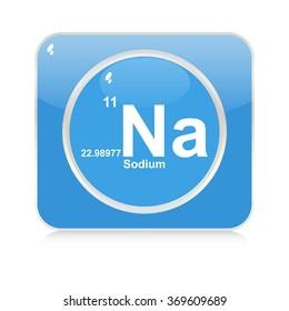 sodium chemical element button