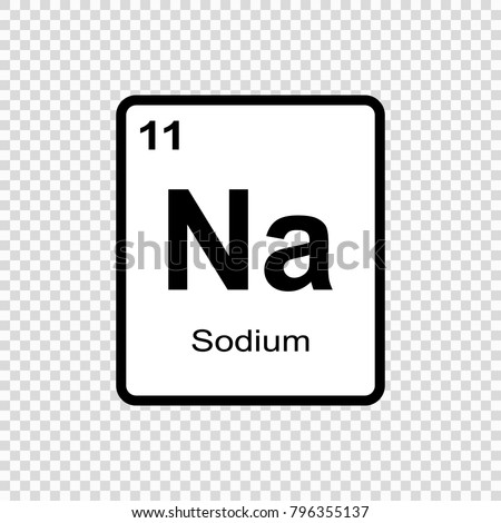 Sodium Chemical Element Sign Atomic Number Stock Vector Royalty
