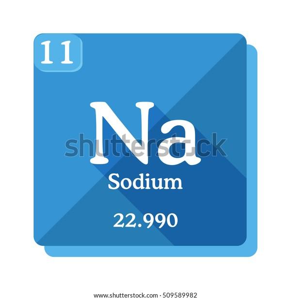 Image Vectorielle De Stock De Sodium Na Element Du Tableau 509589982