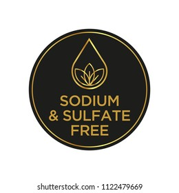 Sodium and sulfate free icon