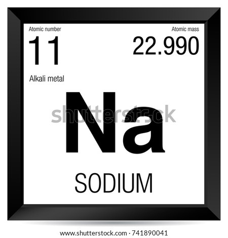 Sodium Symbol Element Number 11 Periodic Stock Vector Royalty Free