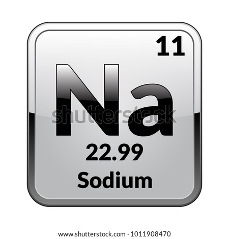 Sodium Symbol Chemical Element Periodic Table On Stock Vector