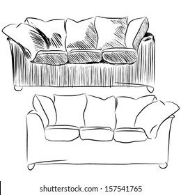 Astounding Sofa Drawing Images Stock Photos Vectors Shutterstock Pdpeps Interior Chair Design Pdpepsorg