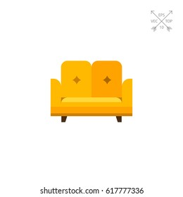 Sofa flat icon