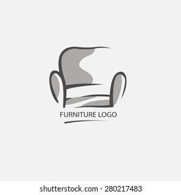 Sofa furniture logo for your business. Element design vector set