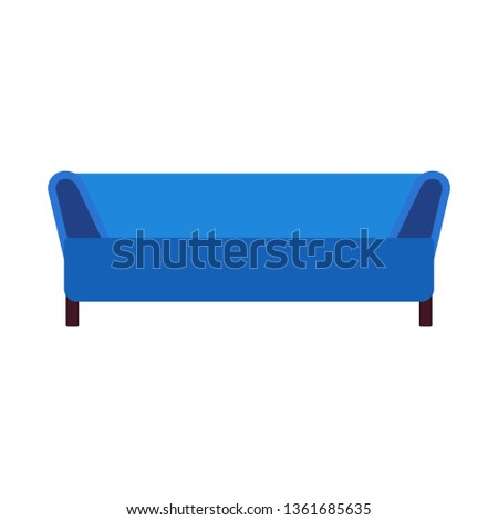 Sofa Furniture Vector Icon Front View Stock Vector Royalty Free