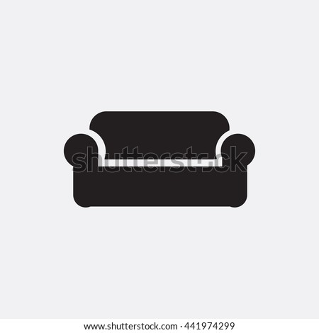 Sofa Icon Stock Vector Royalty Free 441974299 Shutterstock