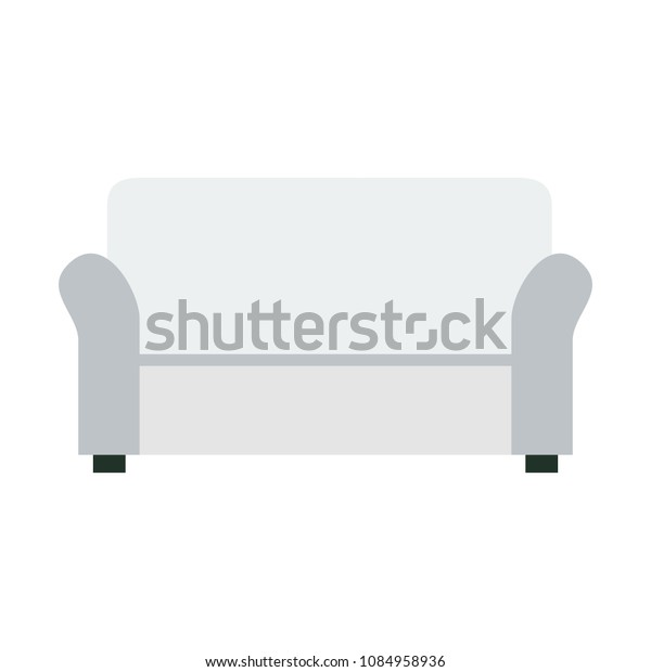 Outstanding Sofa Icon Flat Style Isolated Vector Stock Vector Royalty Theyellowbook Wood Chair Design Ideas Theyellowbookinfo