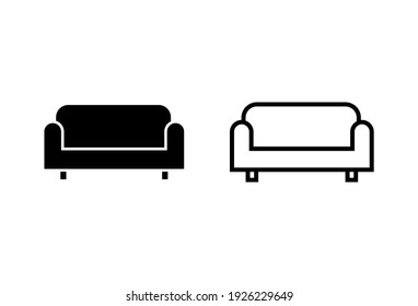 Sofa icon set. sofa icon illustration