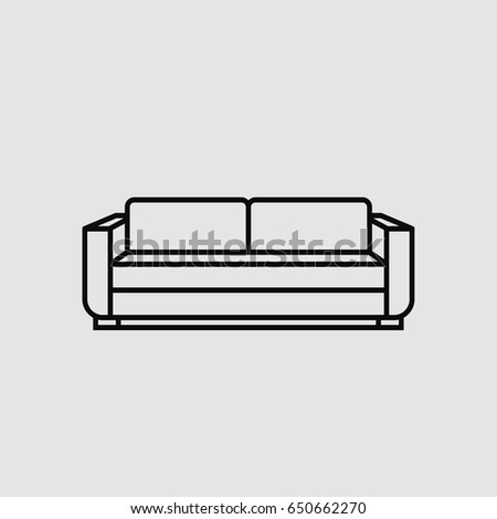 Sofa Icon Vector Stock Vector Royalty Free 650662270 Shutterstock