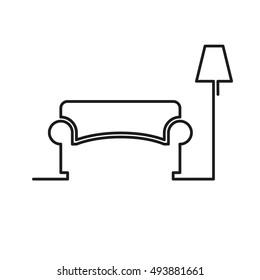 Sofa and lamp icon