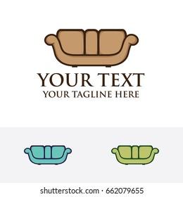 Sofa logo, Furniture logo, vector logo template