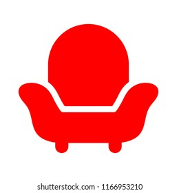 sofa seat or armchair - vector couch illustration, interior furniture