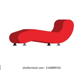 Sofa therapist isolated. couch psychologist. Vector illustration.