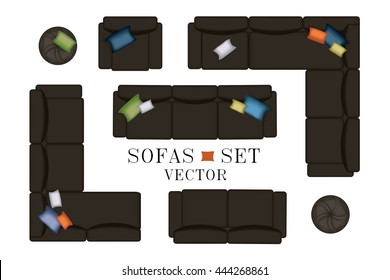 Sofa Top View Images, Stock Photos & Vectors | Shutterstock