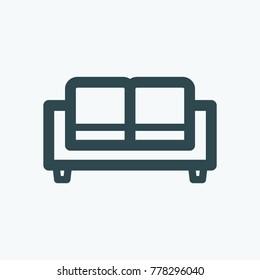 Sofa vector icon