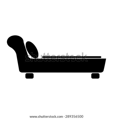 Sofa Vector Icon Stock Vector Royalty Free 289356500 Shutterstock