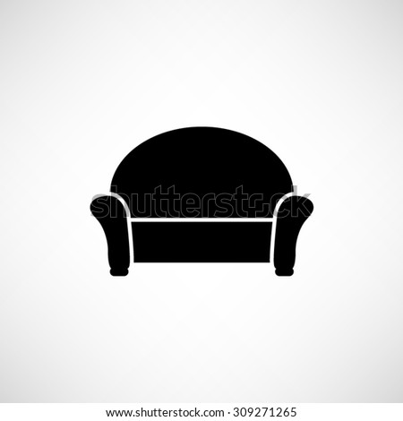 Sofa Vector Icon Stock Vector Royalty Free 309271265 Shutterstock