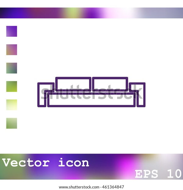 Sofa vector icon