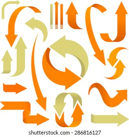 soft arrows collection in orange and beige