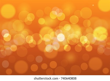 Soft in autumn colors abstract background with bokeh effect. Vector illustration