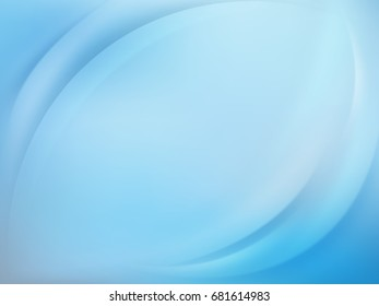 Soft blue light background with smooth lines. And also includes EPS 10 vector