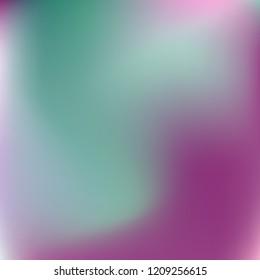 Soft blue violet gradient. Blurred abstract background. Multicolor blurry blend. Holographic illustration.