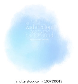 soft blue watercolor stain