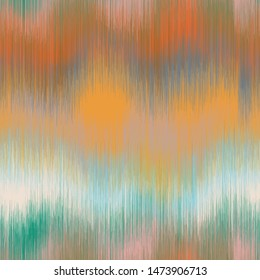 Soft blurry ikat gradient ombre seamless repeat vector pattern in natural terra cotta desert colors.  Abstract landscape, ancient weaving.  Great for home decor, fashion, stationary.  Generative art.