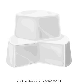 Soft cheese icon in monochrome style isolated on white background. Milk product and sweet symbol stock vector illustration.