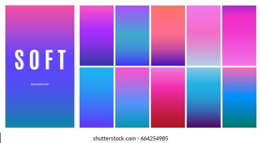 Soft color background design. Creative Gradient set for greeting card, flyer, invitation, poster, brochure, banner calendar