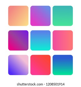 Soft color background. gradient set for mobile app. Soft color abstract gradients