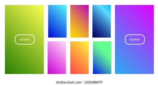 Soft color background. Soft color gradients. Modern screen vector design for mobile app.
