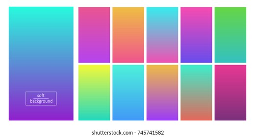 Soft color background. Palettes with color ideas for mobile apps or web site decoration and design. Vector flat style cartoon illustration isolated on white background