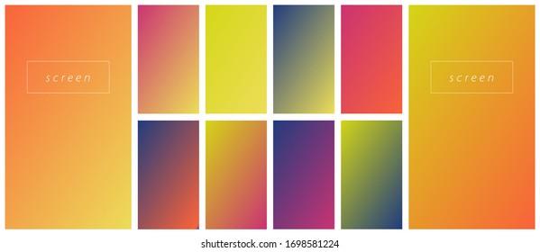 Soft color gradient background. Modern screen vector design for mobile app. Pastel gradient background. Trendy soft color style.