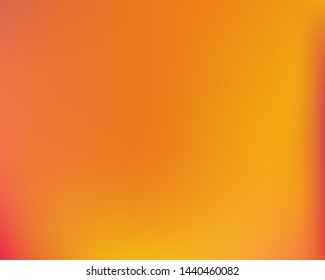Soft color gradient background. Vector illustration layout. Clean backdrop with bright rainbow colors. Orange colored, natural screen design for user interface or mobile app.
